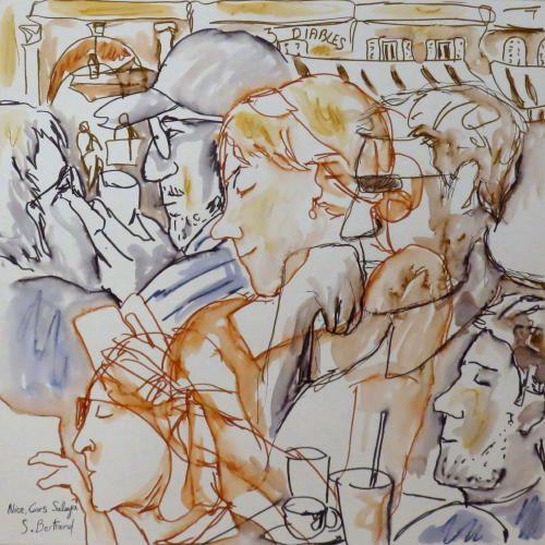 10-nice-au-cafe-cours-saleya-dessin-aquarelle-caricature-sylvie-bertrand-peintre-vieux-nice-atelier-galerie-peinture-gallery-painting-painter