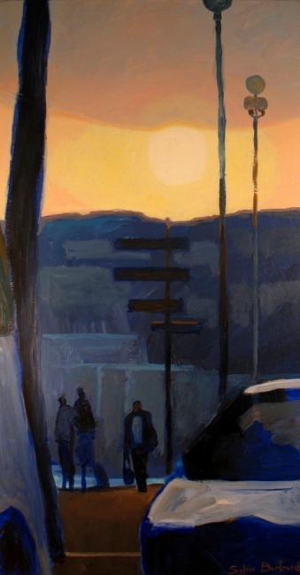 2-coucher-de-soleil-silhouettes-promenade-des-anglais-image-peinture-photo-personnages-nuit-sylvie-bertrand-peintre-nice-tableaux-art-galerie-gallery