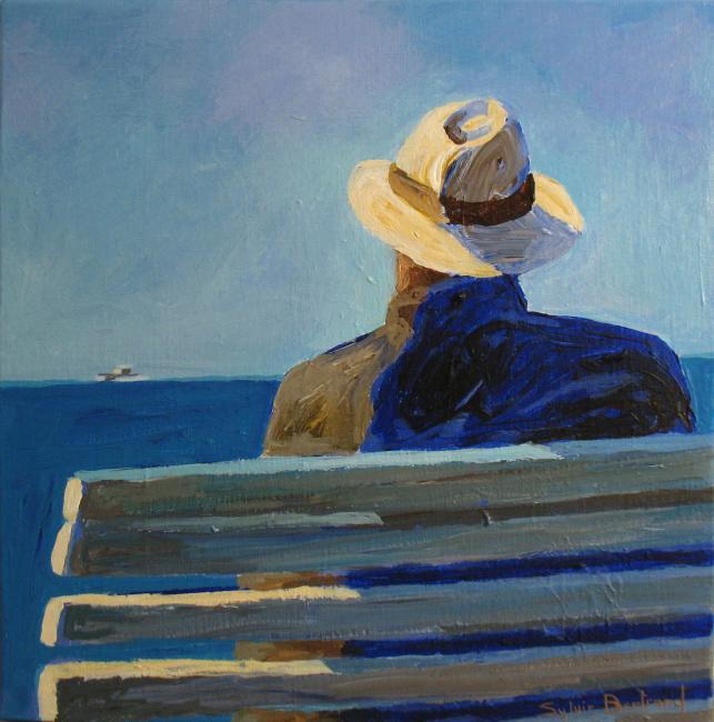 2-devant-la-mer-homme-au-chapeau-inspire-de-la-promenade-des-anglais-peinture-tableau-nice-sylvie-bertrand-peintre