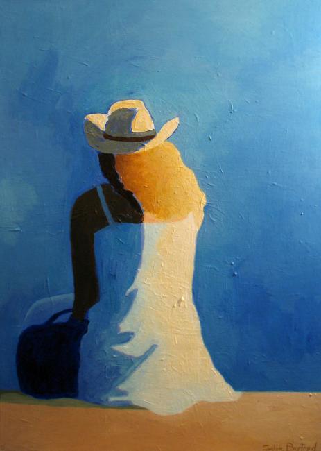 2-femme-au-chapeau-devant-la-mer-silhouette-sylvie-bertrand-peintre-peinture-nice-promenade-des-anglais