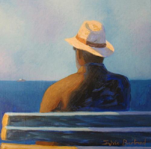 Sylvie bertrand artiste peintre devant la mer silhouette for Artiste peintre anglais