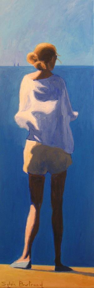 2-jeune-femme-devant-la-mer-sylvie-bertrand-artiste-peintre-vieux-nice-la-ligne-bleue-ingrid-betancourt-promenade-des-anglais-peinture-tableau-art-galerie-gallery