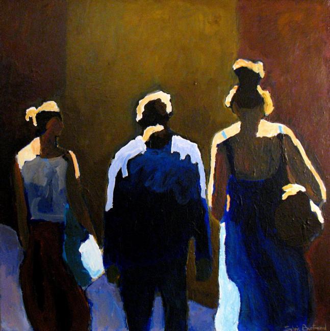 2-trois-silhouettes-dans-la-rue-lumiere-sylvie-bertrand-artiste-peintre-vieux-nice-art-galerie-gallery-atelier