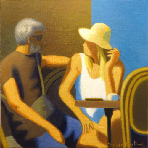 au-cafe-couple-inspire-du-vieux-nice-sylvie-bertrand-personnages-au-cafe-ambiance-bar-bistrot-dans-la-rue-silhouette-lumiere-peinture-artiste-peintre-tableau-art-galerie-gallery