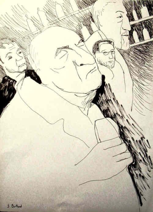 22-nice-jazz-au-cafe-cave-romagnan-dessin-aquarelle-caricature-sylvie-bertrand-peintre-vieux-nice-atelier-galerie-peinture-gallery-painting-painter
