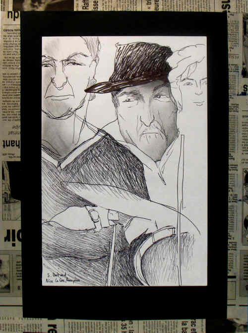 26-nice-jazz-au-cafe-cave-romagnan-dessin-aquarelle-caricature-sylvie-bertrand-peintre-vieux-nice-atelier-galerie-peinture-gallery-painting-painter