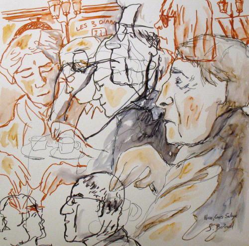 29-personnages-au-cafe-nice-au-cafe-cours-saleya-dessin-aquarelle-caricature-sylvie-bertrand-peintre-vieux-nice-atelier-galerie-peinture-gallery-painting-painter