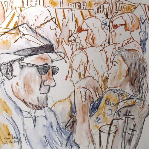 37-personnages-au-cafe-nice-au-cafe-cours-saleya-dessin-aquarelle-caricature-sylvie-bertrand-peintre-vieux-nice-atelier-galerie-peinture-gallery-painting-painter