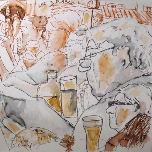 5-nice-au-cafe-cours-saleya-dessin-aquarelle-caricature-sylvie-bertrand-peintre-vieux-nice-atelier-galerie-peinture-gallery-painting-painter