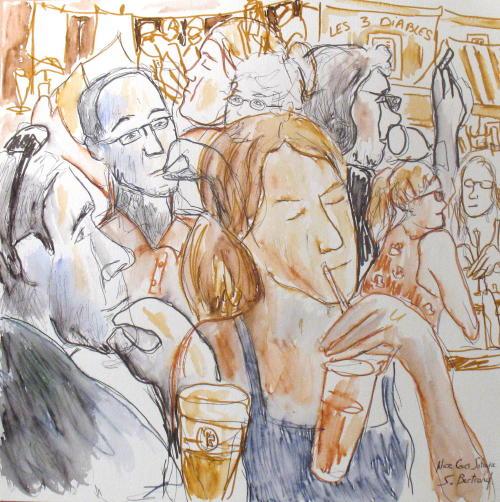 7-nice-au-cafe-cours-saleya-dessin-aquarelle-caricature-sylvie-bertrand-peintre-vieux-nice-atelier-galerie-peinture-gallery-painting-painter