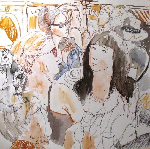 8-nice-au-cafe-cours-saleya-dessin-aquarelle-caricature-sylvie-bertrand-peintre-vieux-nice-atelier-galerie-peinture-gallery-painting-painter