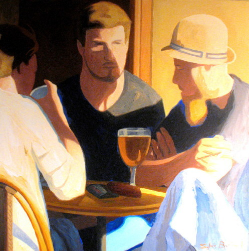 conversation-au-cafe-inspire-du-vieux-nice-sylvie-bertrand-bar-bistrot-dans-la-rue-silhouette-lumiere-peinture-artiste-peintre-tableau-art-galerie-gallery