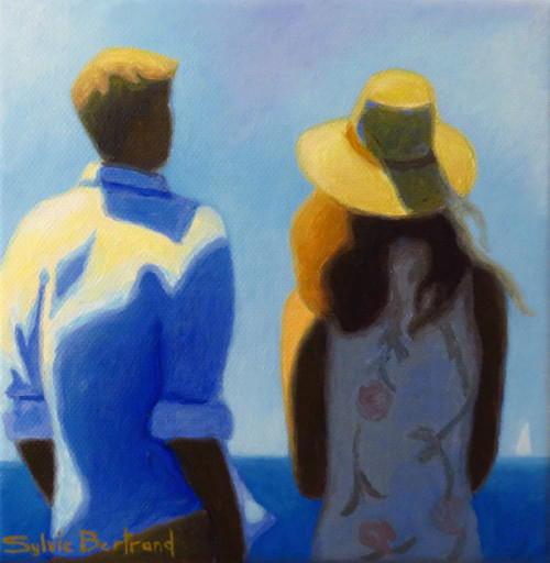 devant-la-mer-couple-inspire-de-la-promenade-des-anglais-nice-sylvie-bertrand-artiste-peintre-galerie-nice-peinture-tableau-painting-painter-art-gallery