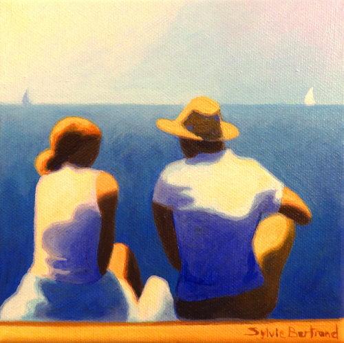 devant-la-mer-couple-n-2-inspire-de-la-promenade-des-anglais-nice-sylvie-bertrand-artiste-peintre-galerie-nice-peinture-tableau-painting-painter-art-gallery