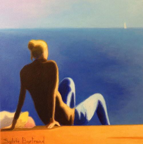 devant-la-mer-jeune-fille-sylvie-bertrand-peintre-nice