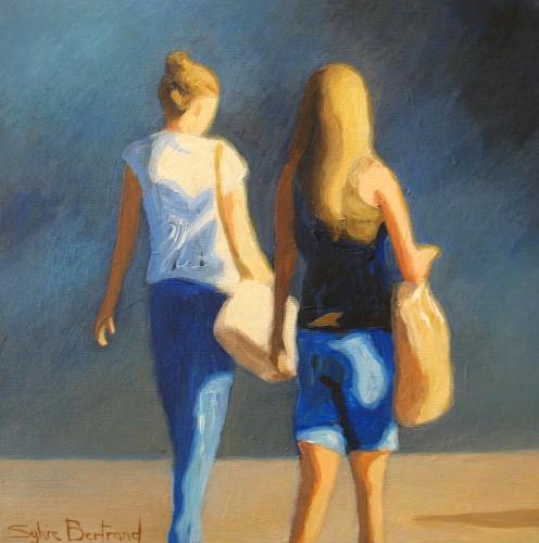les-passantes-silhouette-dans-la-rue-vieux-nice-sylvie-bertrand-artiste-peintre-nice-tableau-peinture-art-galerie-atelier-gallery