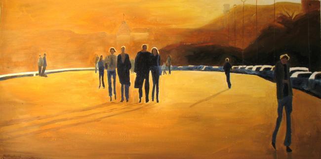 lumiere-orangee-promenade-des-anglais-nice-ombre-et-lumiere-atelier-sylvie-bertrand-peinture-artiste-peintre-tableau-image-photo-painting-painter-picture-galerie-vieux-nice-gallery-art
