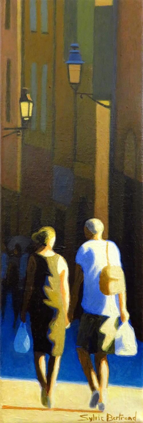 passants-et-lumiere-inspire-du-vieux-nice-rue-ruelles-atelier-sylvie-bertrand-nice-peintre-peinture-tableau-painter-painting-galerie-gallery-art