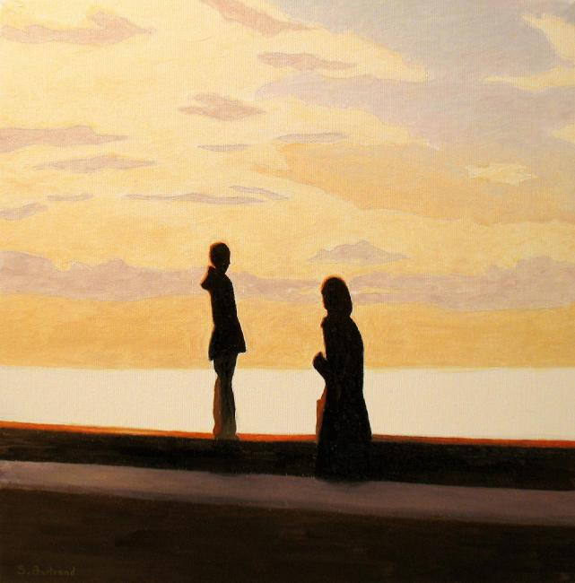 silhouettes-quai-rauba-capeu-inspire-de-nice-mere-et-enfant-ombre-et-lumiere-atelier-sylvie-bertrand-peinture-artiste-peintre-tableau-image-photo-painting-painter-picture-galerie-vieux-nice-gallery-art