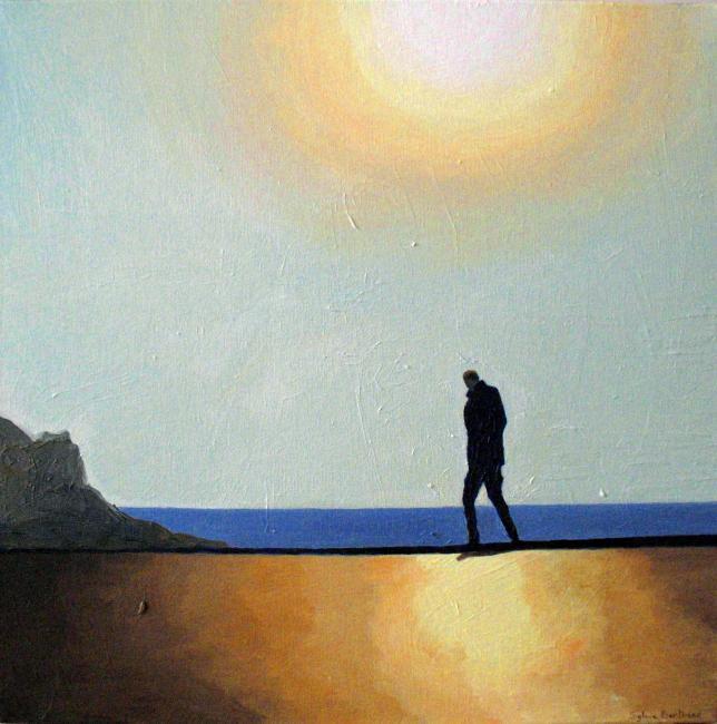 sous-le-soleil-inspire-du-quai-rauba-capeu-nice-peinture-a-l-huile-silhouette-ombre-et-lumiere-promeneur-solitaire-atelier-sylvie-bertrand-peinture-artiste-peintre-tableau-image-photo-painting-painter-picture-galerie-vieux-nice-gallery-art