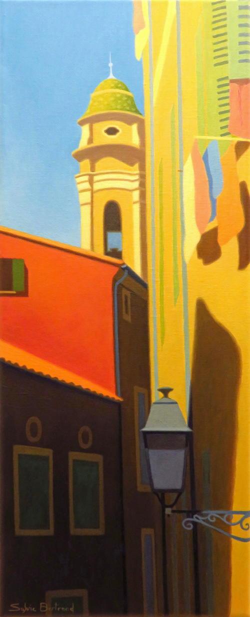 vieux-nice-rue-du-malonat-lumiere-et-couleur-inspire-du-vieux-nice-architecture-vieille-ville-rue-ruelle-atelier-sylvie-bertrand-nice-peintre-peinture-rouge-tableau-painter-painting-galerie-gallery-art